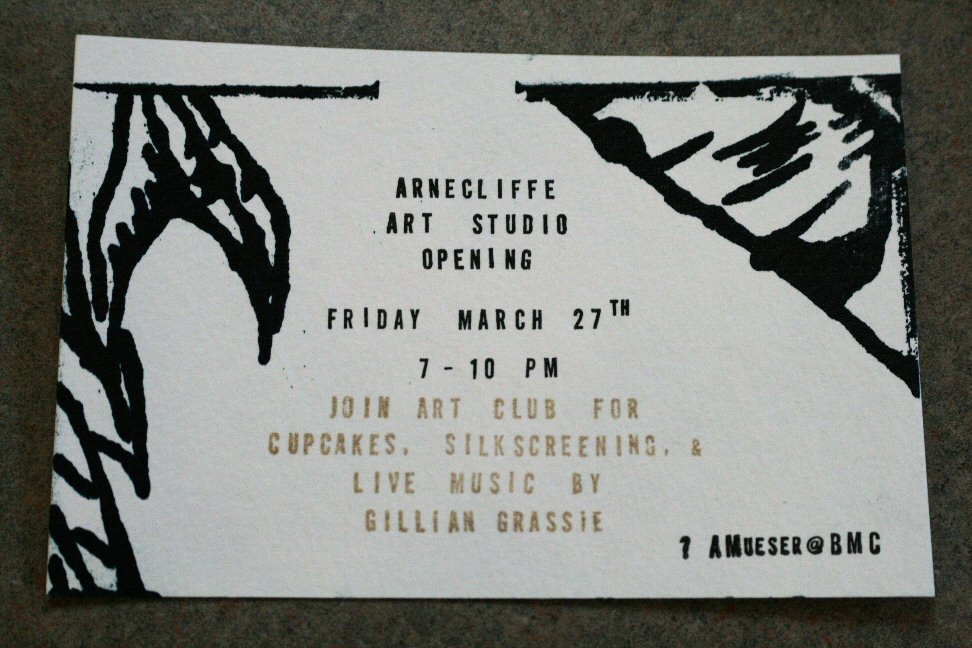 Art Club Opening Invitation