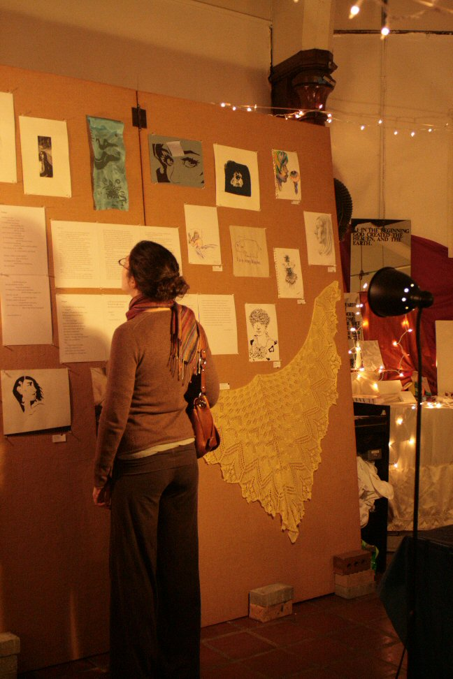 Looking at the artwork, reading the literary works
